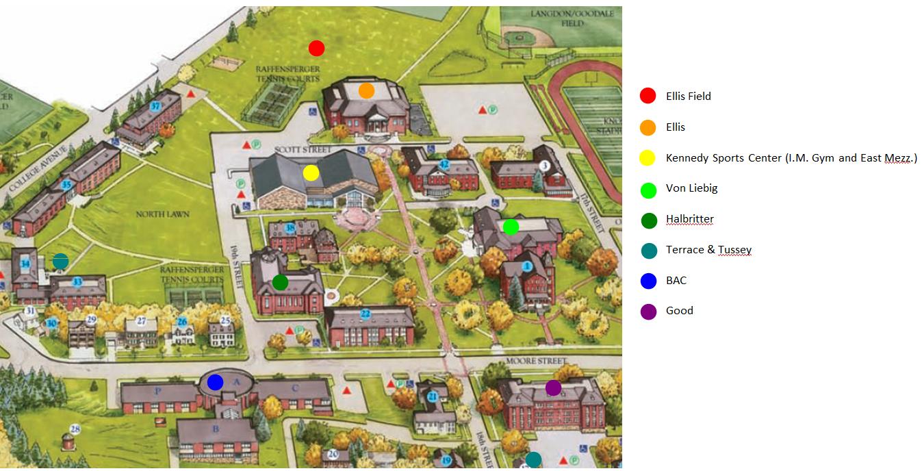 moravian college campus map Pennsylvania Scioly Org moravian college campus map